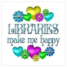 Library Happiness Canvas Art
