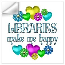 Library Happiness Wall Decal