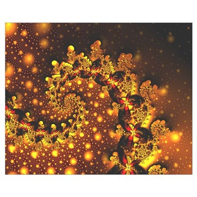 """Festoon"" Fractal Art Framed Print"