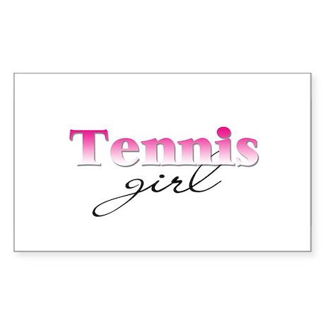 Tennis girl Rectangle Sticker