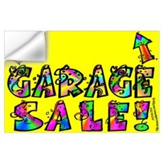 Garage Sale Wall Decal
