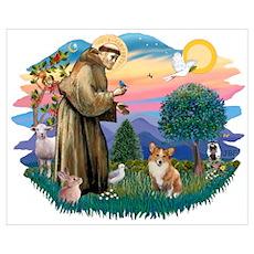 St. Francis #2 / Corgi (Pem) Poster