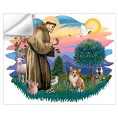 St. Francis #2 / Corgi (Pem) Wall Decal