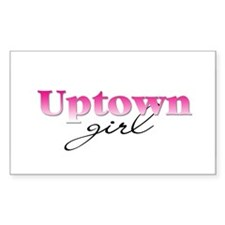 Uptown girl Rectangle Decal
