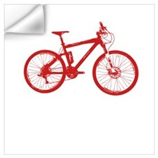 Red Mountain Bike Wall Decal