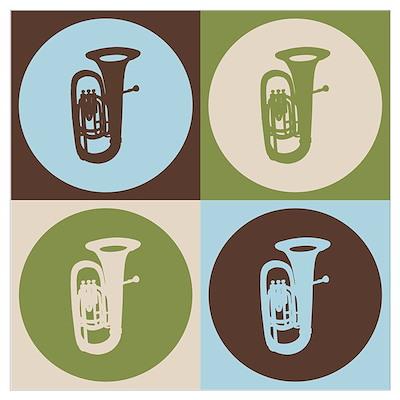 Tuba Pop Art Poster