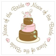Niece of the Bride Cake Poster