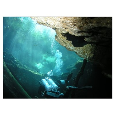 Cave Diving Poster
