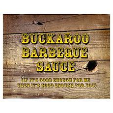 Buckaroo Barbecue Sauce Poster