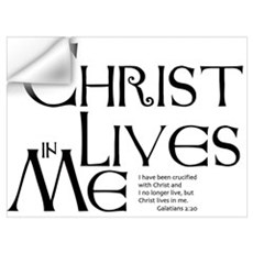 Christ Lives in Me Wall Decal
