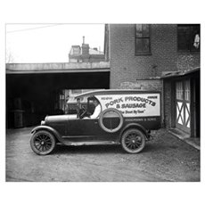 Butcher Shop Delivery Truck, 1926 Framed Print