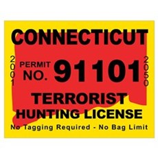 Connecticut Terrorist Hunting Poster