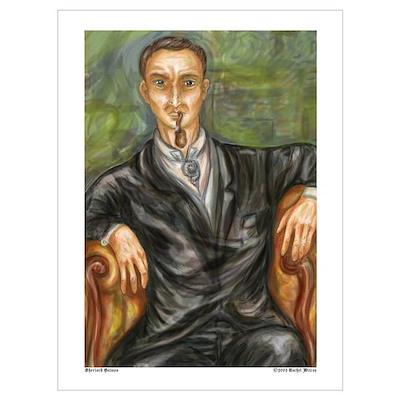 Impressionistic Holmes Poster