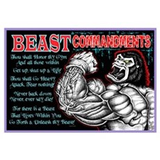 BEAST Commandments Framed Print