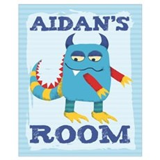 Aidan's ROOM Mallow Monster 16x20 Canvas Art