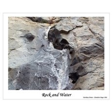 Rock and Water Framed Print