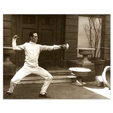 Epee Fencers Fencing Poster