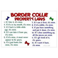 Border Collie Property Laws 2 Poster