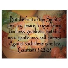 Fruit of the Spirit Galatians 5 Canvas Art