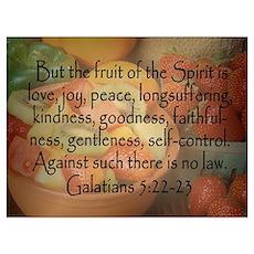 Fruit of the Spirit Galatians 5 Poster