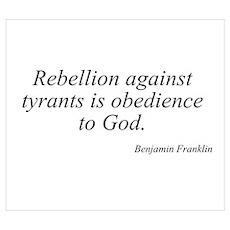 Benjamin Franklin quote 126 Poster