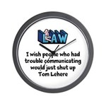 Litigation Lawyer's Wall Clock