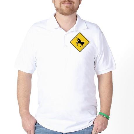 Warning : Unicorn Golf Shirt