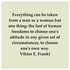 Viktor Frankl quote Canvas Art