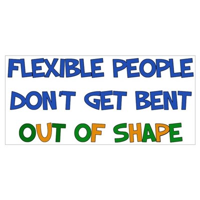 Flexible People Framed Print