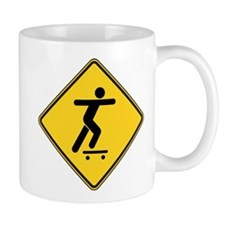 Warning : Skateboarder Mug