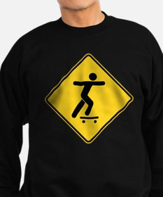 Warning : Skateboarder Sweatshirt (dark)