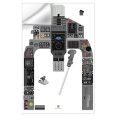 T-38C Cockpit Training Wall Decal