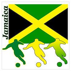 Jamaica Soccer Poster