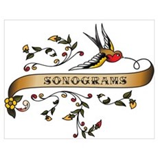 Sonograms Scroll Poster