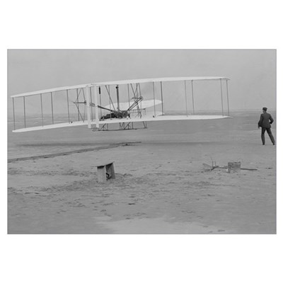 Kitty Hawk First Powered Flight Canvas Art