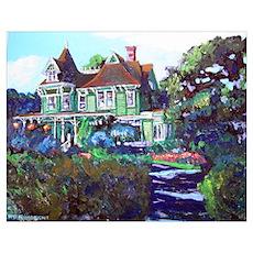 Summer Cottage Print Poster