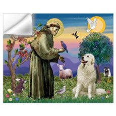 St. Francis & Great Pyrenees Wall Decal