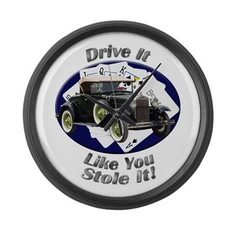 Ford Model A Large Wall Clock