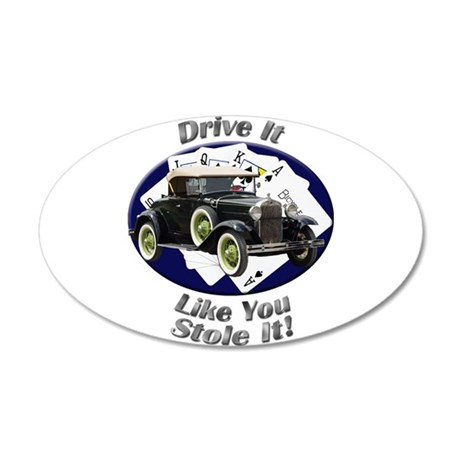 Ford Model A Large Oval Wall Peel