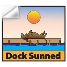 Dock Sunned Dachsund Wall Decal