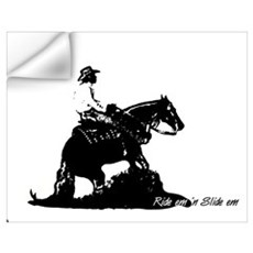 Ride em 'n Slide em,reining h Wall Decal