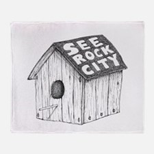 See Rock City Throw Blanket