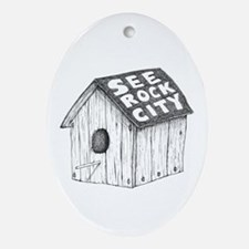 See Rock City Ornament (Oval)