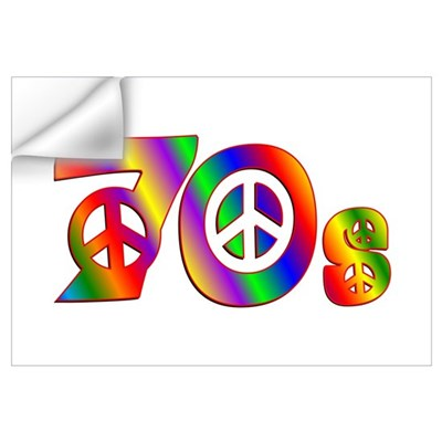 70s PEACE SIGN Wall Decal