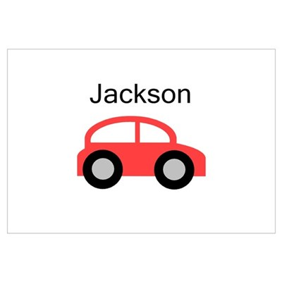 Jackson - Red Car Poster
