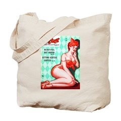 Titter Vintage Pin Up Girl Cover Tote Bag