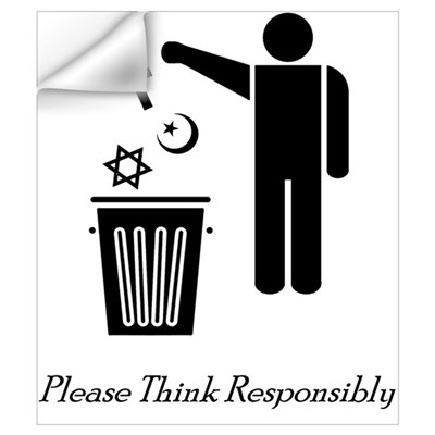 Please Think Responsibly Wall Decal