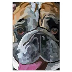 English Bulldog Face Canvas Art