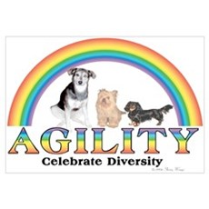 Celebrate Diversity(dogs) Framed Print
