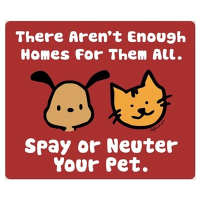 Too Few Homes Spay & Neuter Poster